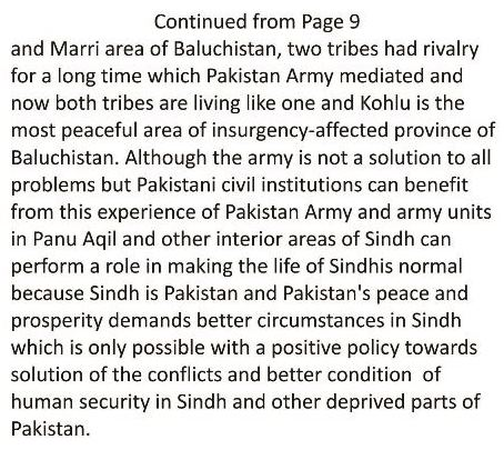 The Security Situation of Interior Sindh 3