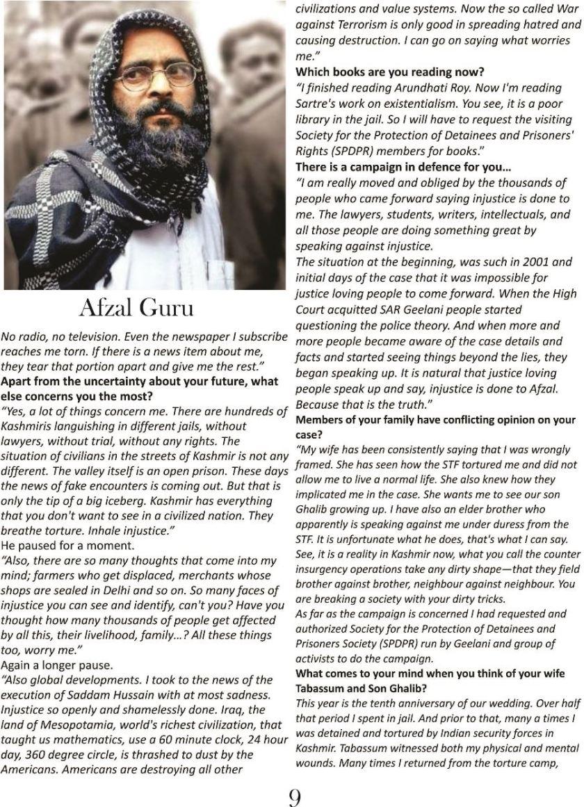 Interview with Afzal Guru Voice of Kashmir 4