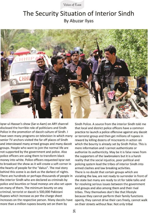 The Security Situation of Interior Sindh 1