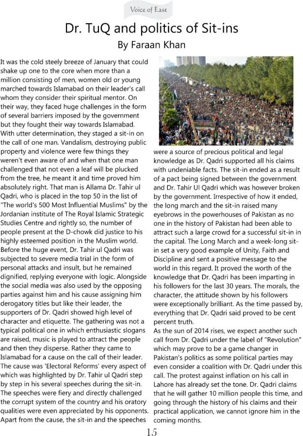 Dr TuQ and politics of Sit-ins