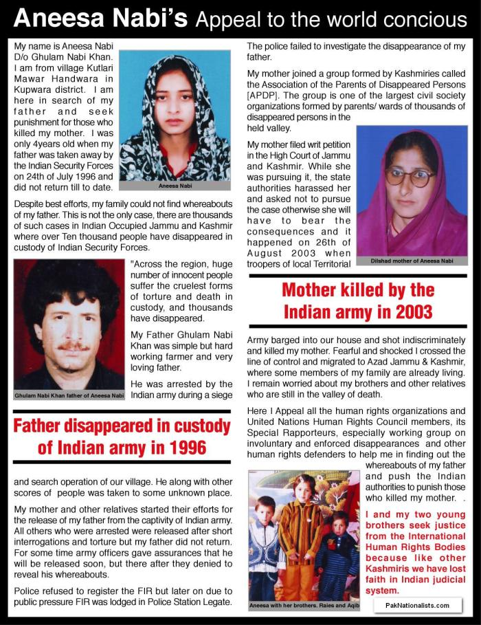 Aneesa Nabi's appeal to the world
