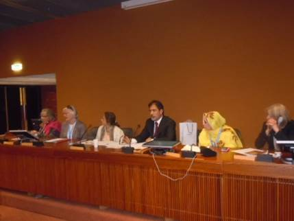 APHC leader Altaf Wani chairs the panel temporarily in the chairwoman's absence