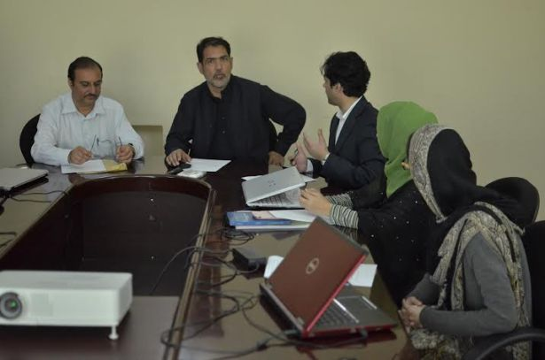 Syed Faiz Naqshbandi and Altaf Hussain Wani of APHC with YFK Executive Director Ahmed Quarishi