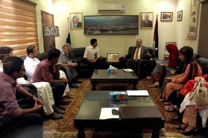 YFK Delegation of Kashmiri And Pakistani Youth With Palestinian Ambassador in Islamabad