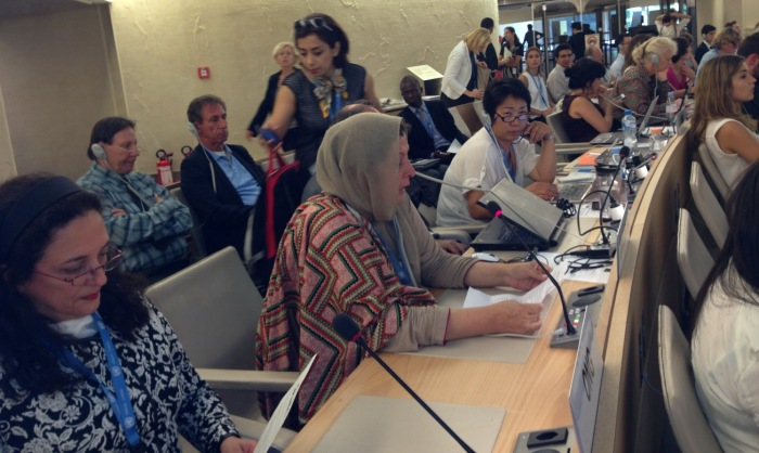 Mrs. Shamim Shawl From APHC Addresses The Member Countries of UN Human Rights Council In Geneva