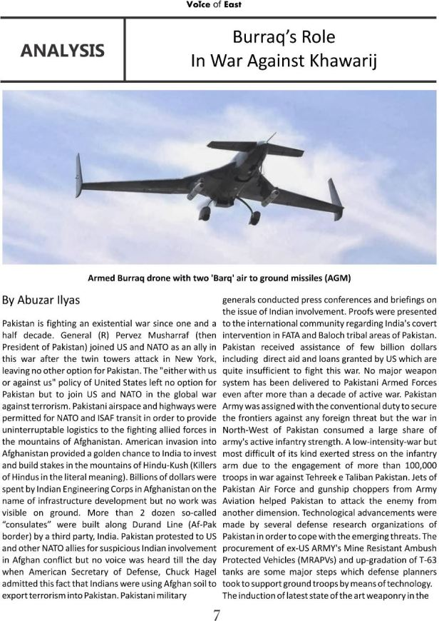 Burraq s role in war against khawarij a