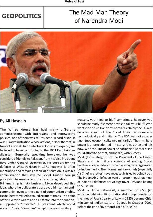 The Mad Man Theory of Narendra Modi 1