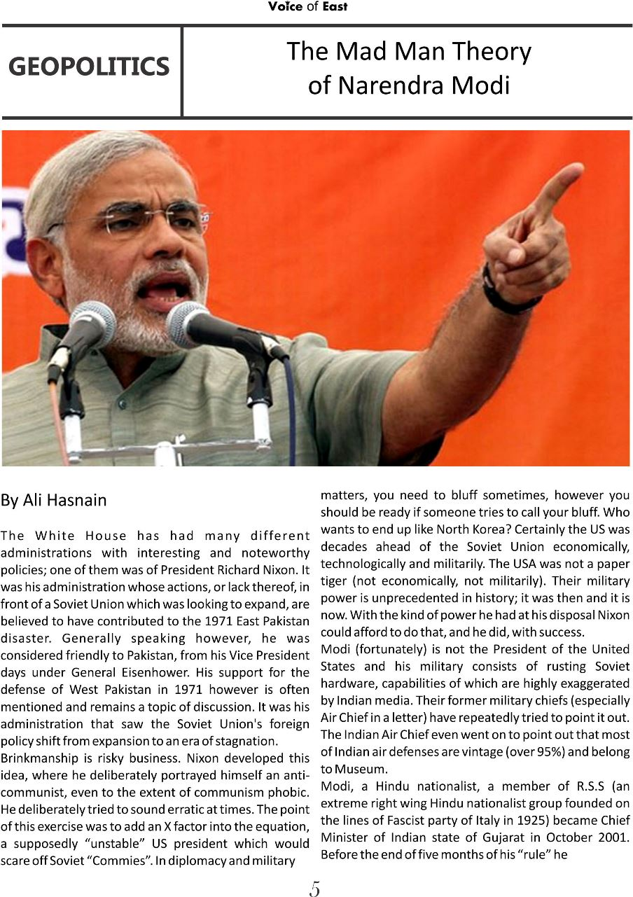 The Mad Man Theory of Narendra Modi 1