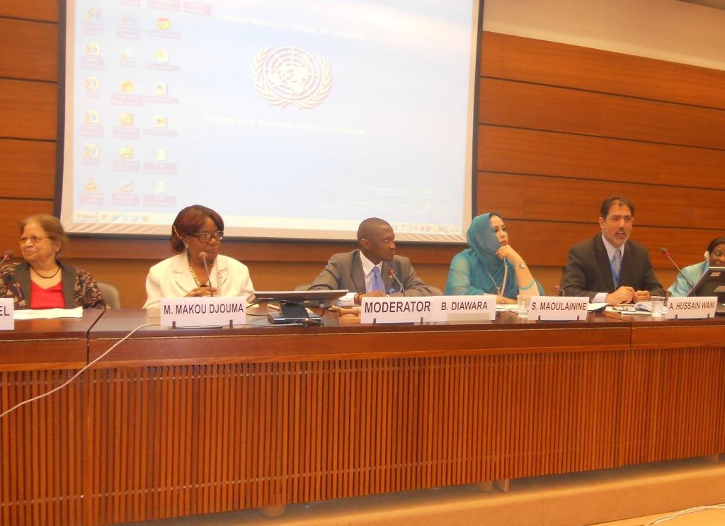 Altaf Hussain Wani & Makou Djuma - Geneva, UN