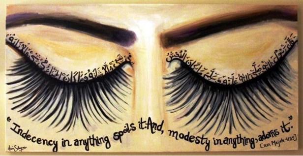 modesty adorns