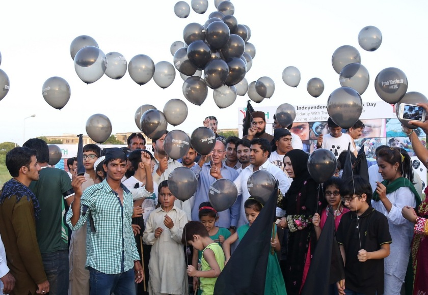 Black Balloons For Free Kashmir