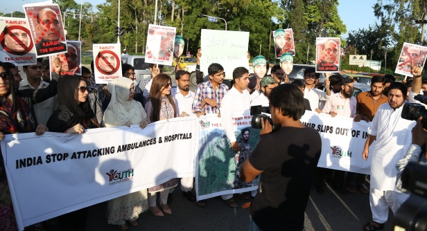Protest Against Arrival Of RajNath Singh